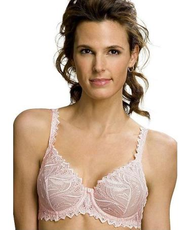 Bali Lace Desire Embroidered Underwire Bra No-Slip Straps