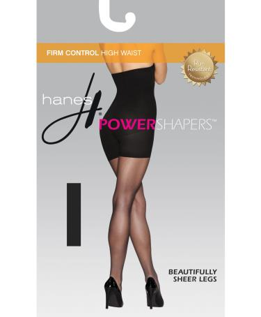 Hbi Black Hanes Womens Firm Control High Waist Power Shapers
