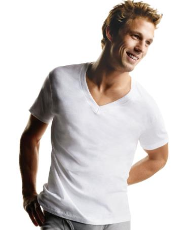 Hanes Big Mens V-Neck T Shirt 3 Pack