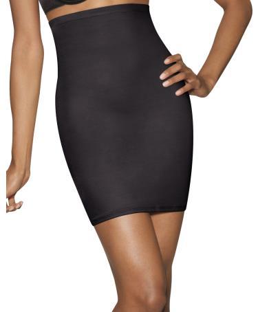 Hns Black Hanes Womens Waist Hi Half Slip Shaper