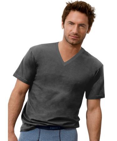 Hanes Classics Men 39 S Comfort Cool Tagless V Neck T Shirt