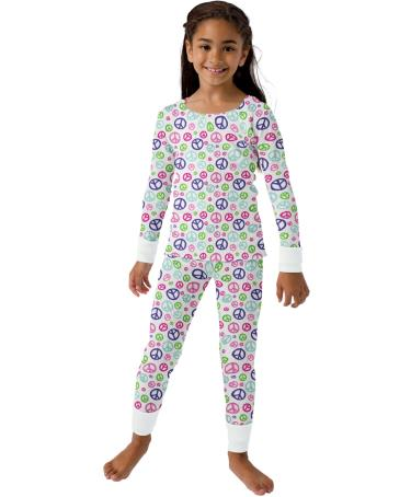 Hanes 24104 - Printed Girls' Thermal Underwear Set
