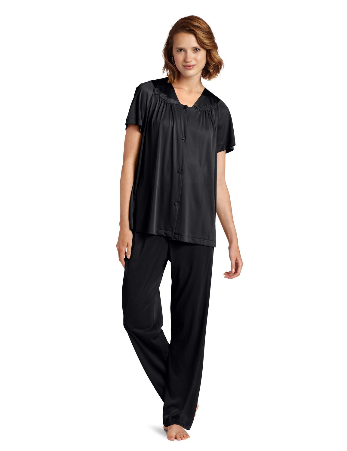 Vanity Fair Colortura Sleepwear Women`s Plus-Sizes Short-Sleeve Pajama Set