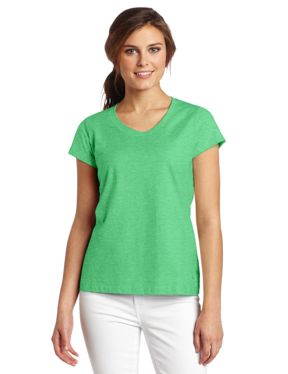 Champion women 39 s t shirts ch7842 champion 100 cotton v for Women s embellished t shirts