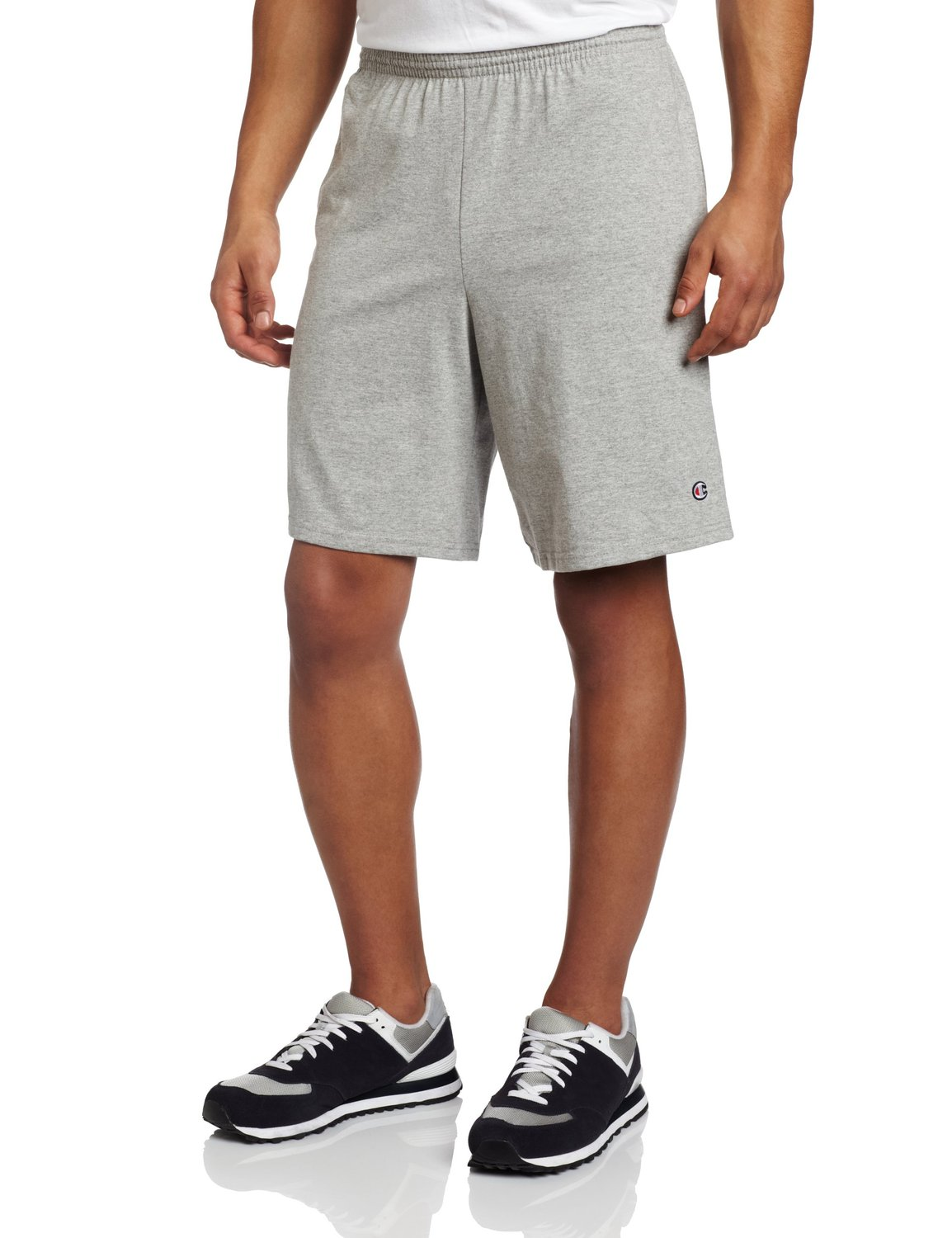 Champion Authentic Cotton Jersey 9-Inch Men's Shorts with Pockets