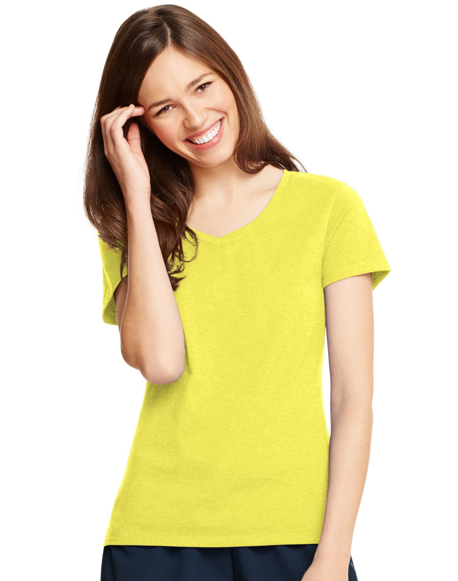Hanes X Temp Women S V Neck T Shirt