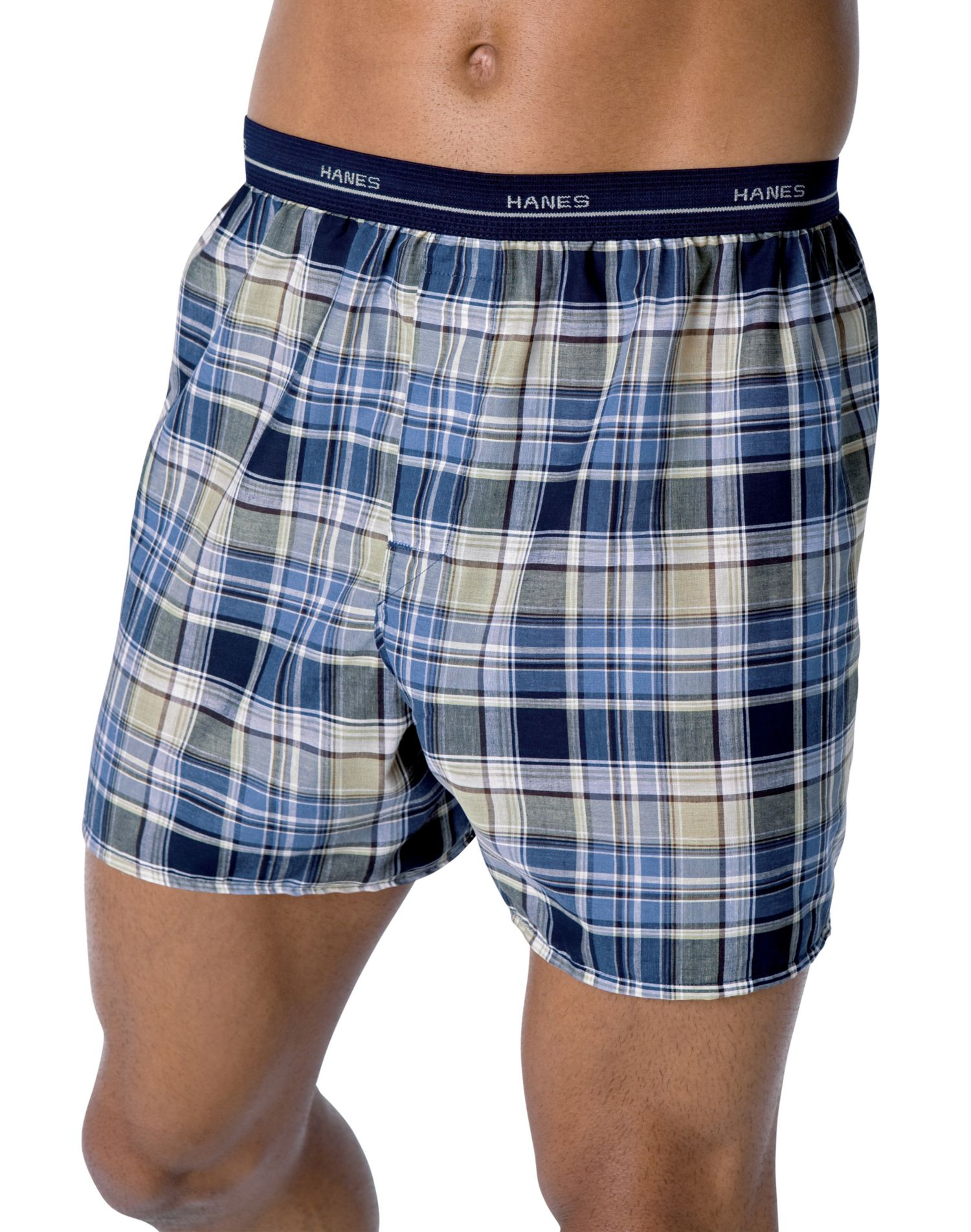Hanes MWCST - Men's Plaid Woven Boxers with Comfort Flex® Waistband 3-