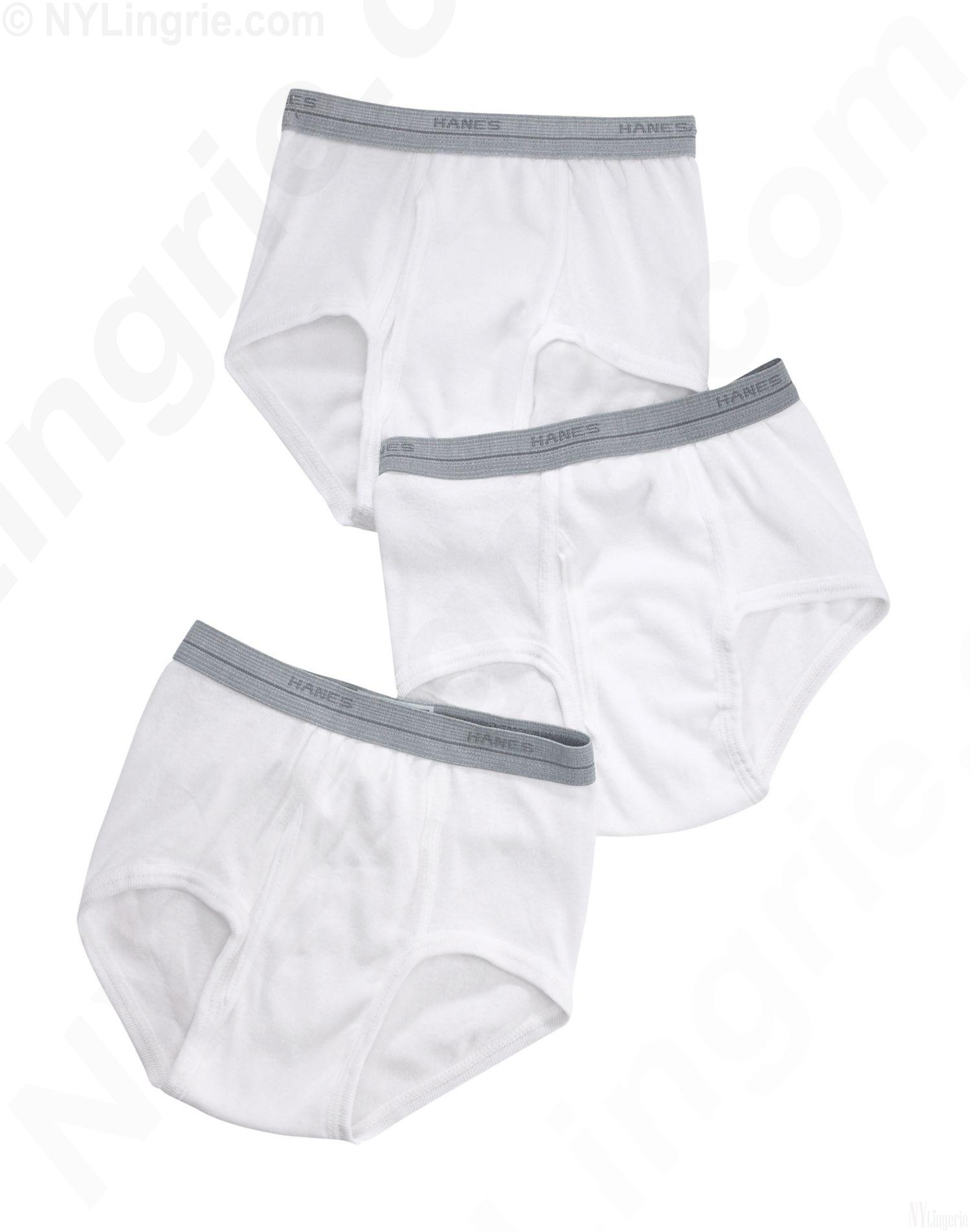 B252CL - Hanes Classics Boys White Brief