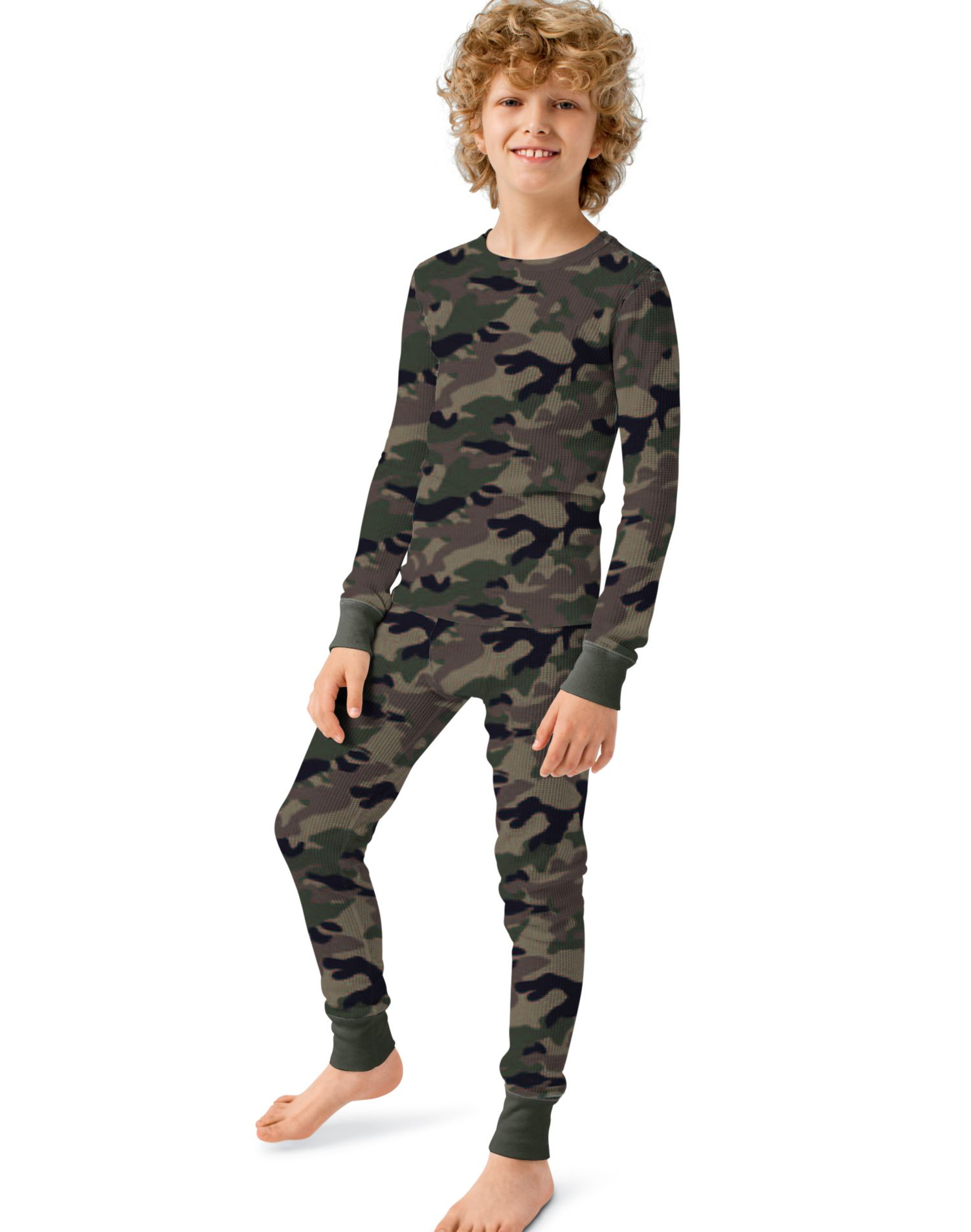 Hanes 24102 - Boys' Camo Thermal Underwear Set
