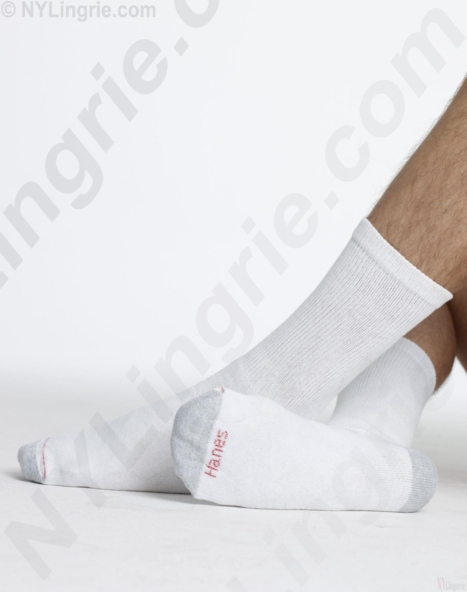 Hanes Crew Socks 6 Pack | Black | Grey | hanes cushion crew socks ...