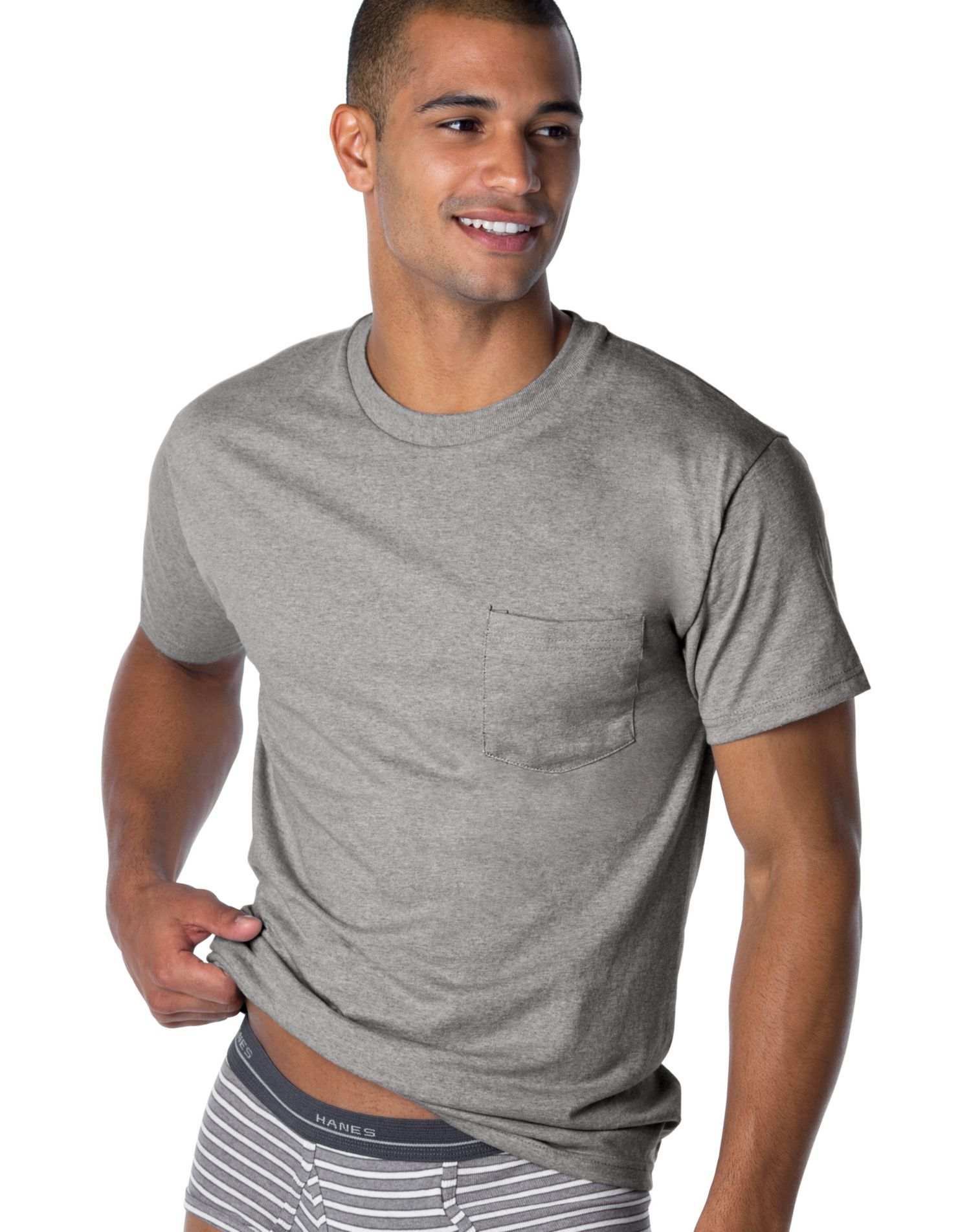 2176JC - Hanes Men's ComfortSoft Dyed Pocket T (