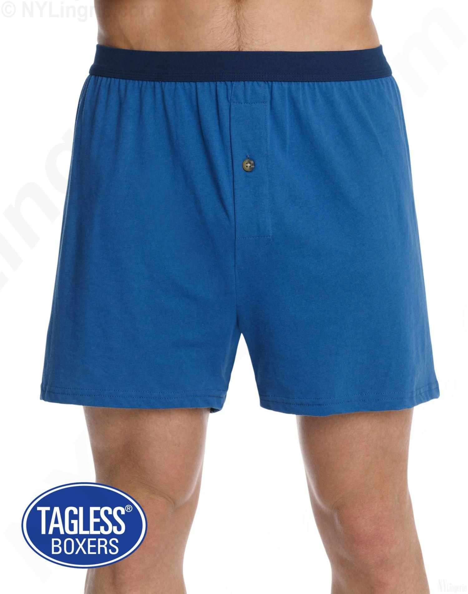 This cotton knit allows full movement in these boxers, and with their loose fit, Hilfiger boxer shorts make for a great lounge short. Mens boxers are a men's underwear silhouette classic. In fact, many women have now started buying and borrowing boxer shorts to wear as casual wear too.