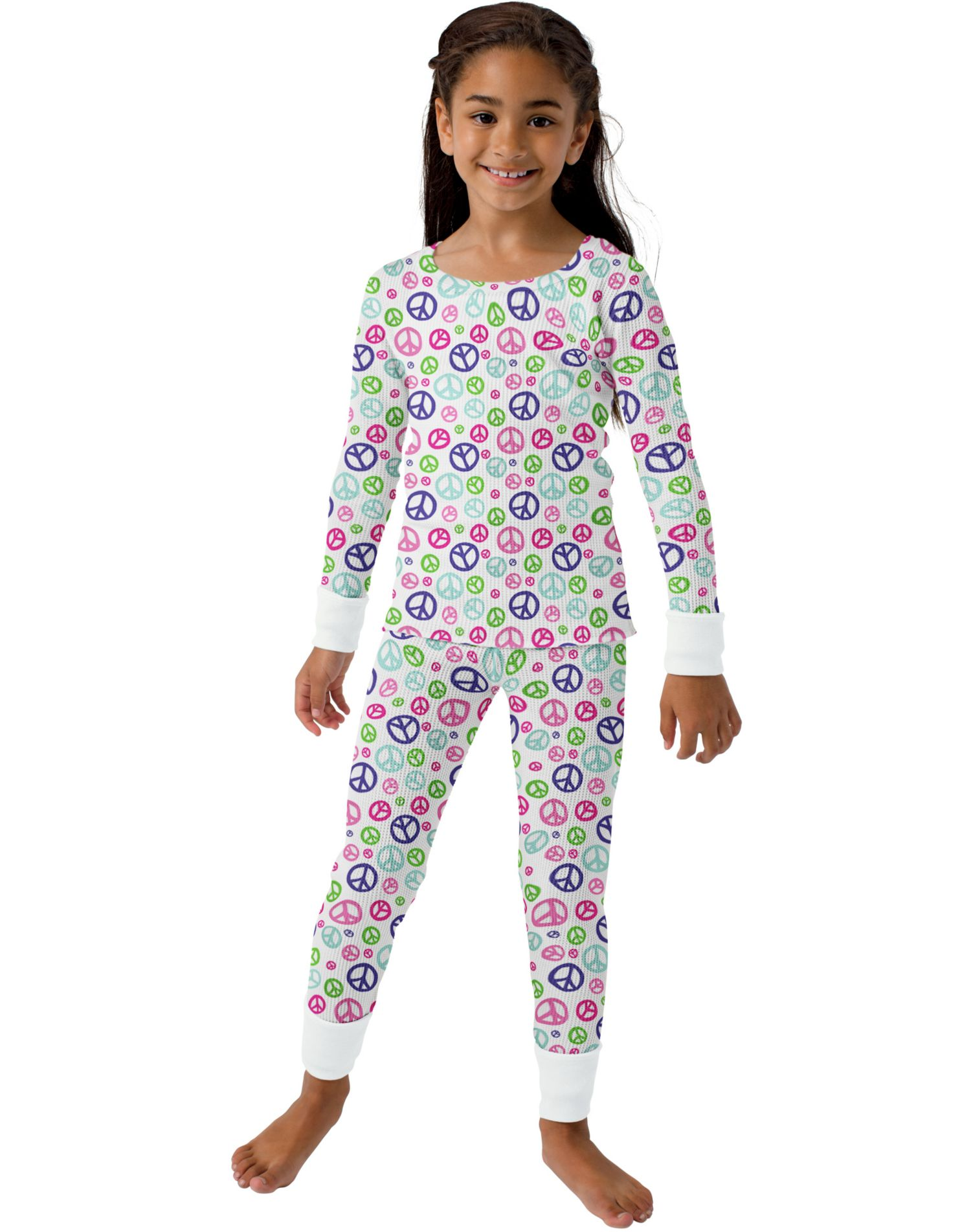Hanes 24104 - Printed Girls' Thermal Underwear Set