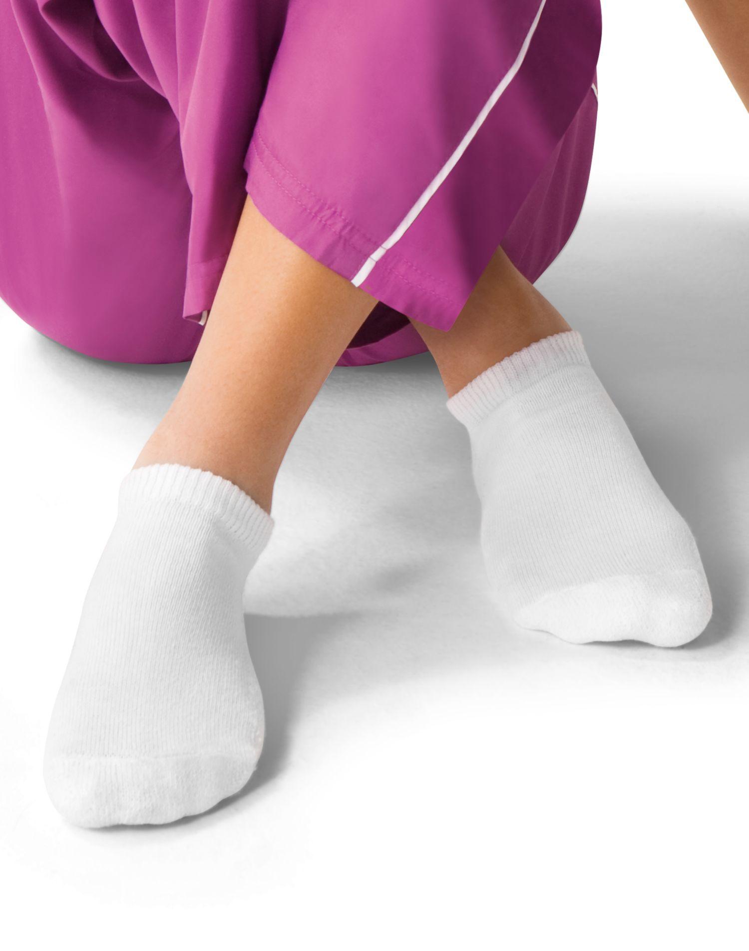 Hanes Girls No-Show Socks 6-Pack