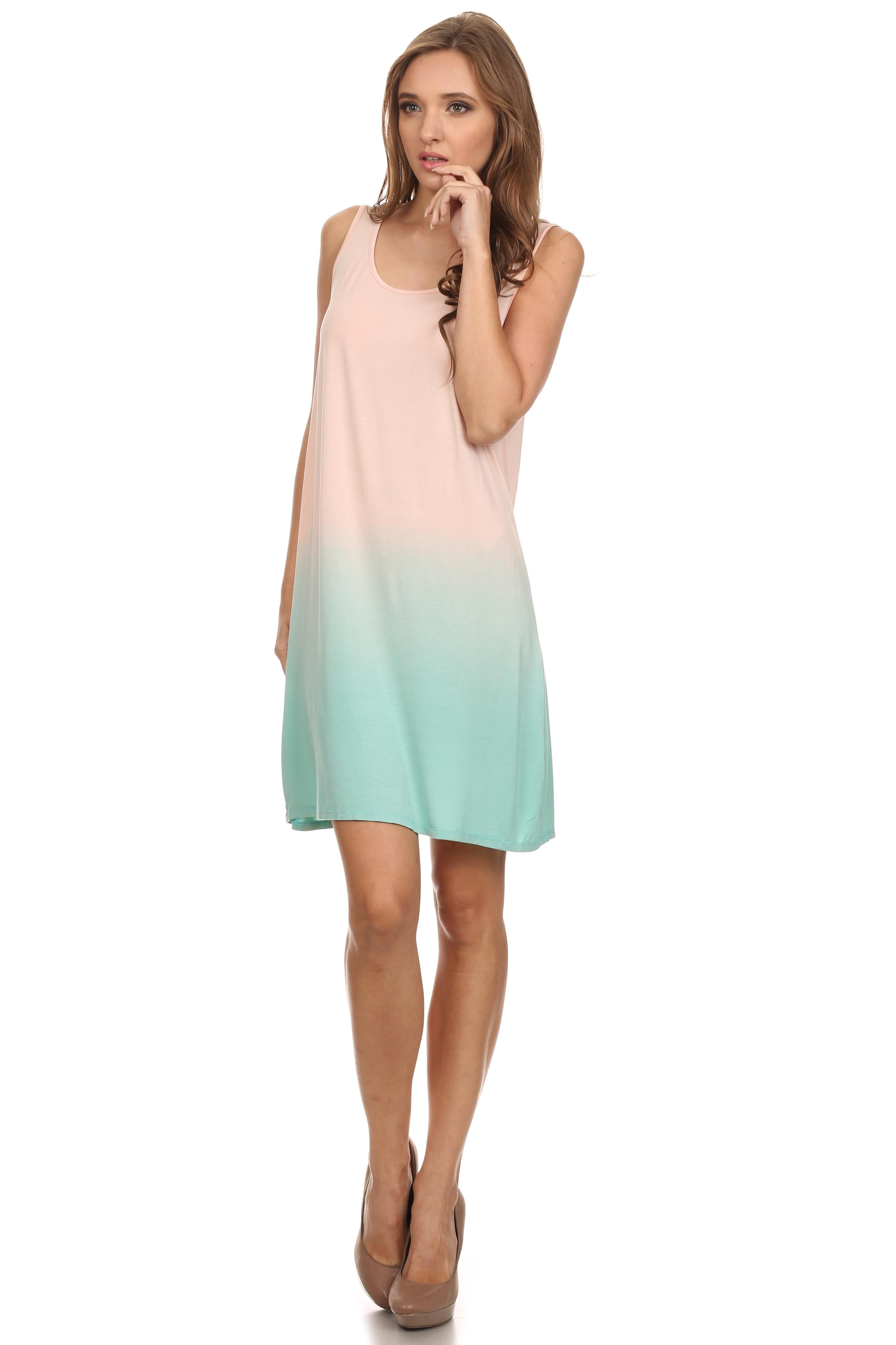 Long Tunic Tank Top for Women Tie Dye Loose fit Modal ...