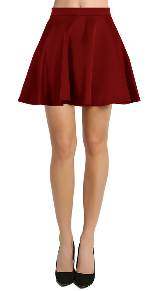 These skirts have a relaxed fit and also highlight your assets, which is the reason why most women love to buy gorgeous women's flared skirts. You can pick high waisted mini flared skirts online and wear them to work by teaming them with elegant work wear blouses or carry these skirts to party with shimmering tops.