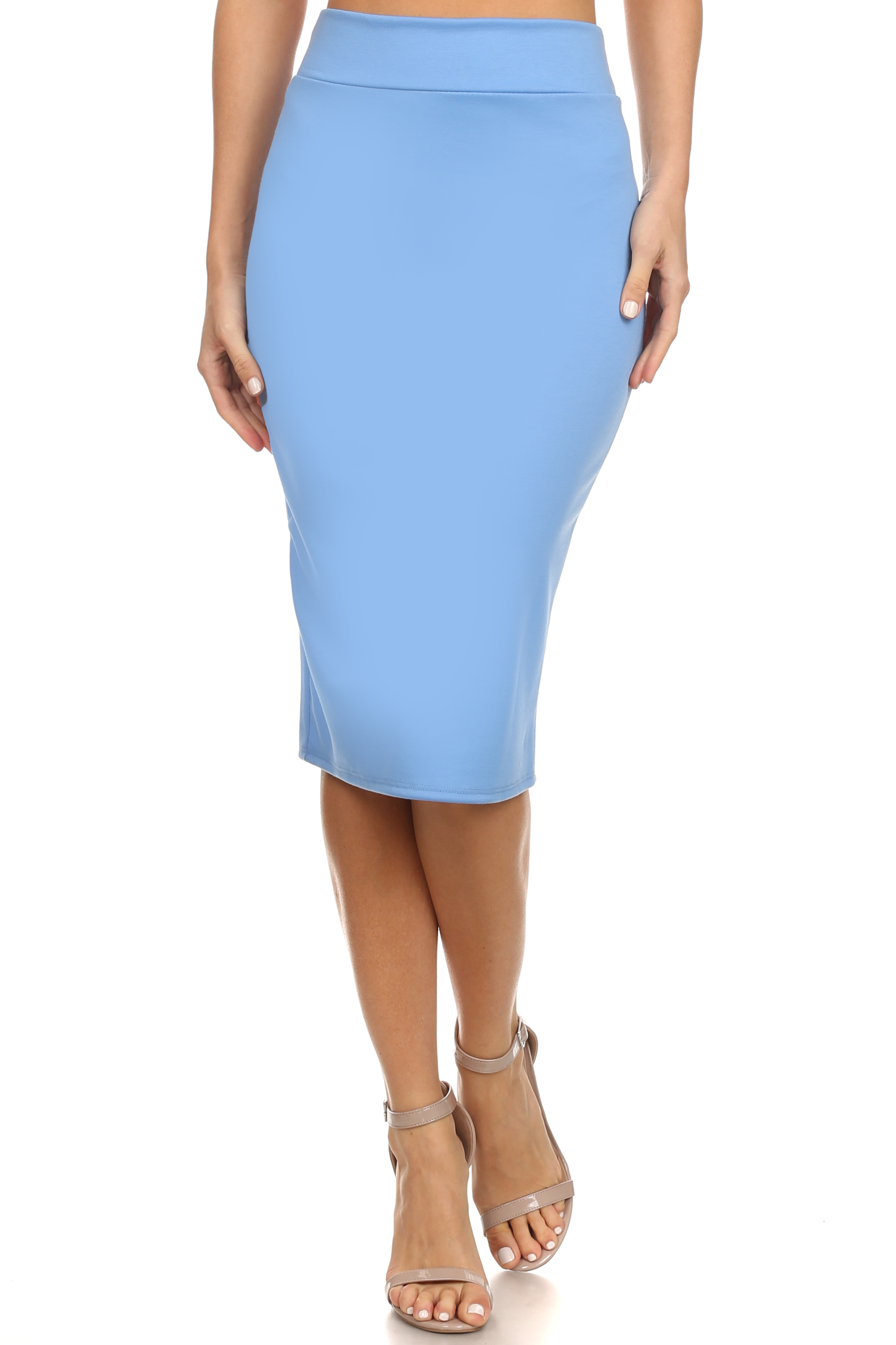 reg and plus size below knee pencil skirt