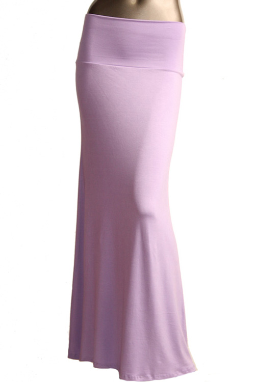 s floor length solid color lavender maxi skirt